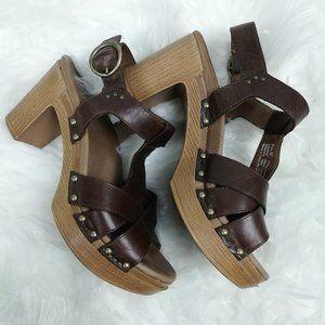 Dansko Daniela brown leather heels
